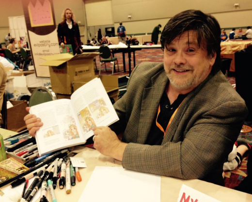 Bruce Lewis finds himself in the pages of How To Draw Manga Made Easy.