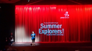 The Japan Foundation's Junko Takekawa introduces the session